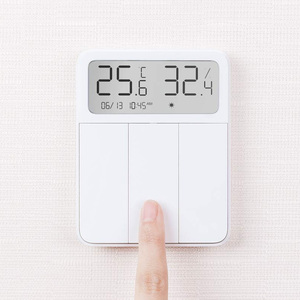 Image 3 - 2021 Original Xiaomi Mijia Smart Screen Display 3 Key Switch with Temperature and Humidity Sensor Work with Mi Home APP