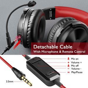 Image 5 - Oneodio auriculares inalámbricos con micrófono extensible para videojuegos, plegables, portátiles, Bluetooth V5.0