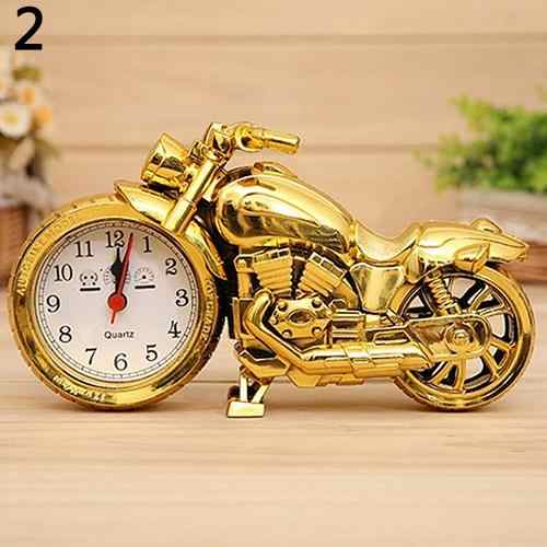 Upscale Retro Motorcycle Alarm Clock Quartz Watch Punk Retro Gifts Cool Furnishings Boutique Desktop Decor Birthday Gift For Stu