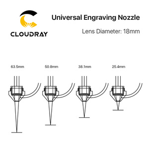 Image 5 - Cloudray Air Nozzle Compound Universal Engraving Nozzle for Laser Head at CO2 Laser Cutting Machine
