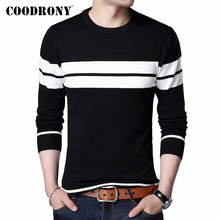 COODRONY Brand Sweater Men Casual Striped O-Neck P