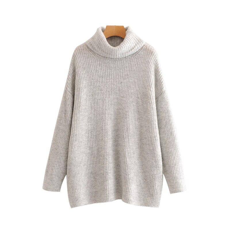 Women Jumpers Turtleneck Sweaters Oversize Winter Fashion 2020 Long Sweater Coat Batwing Sleeve Christmas Sweater