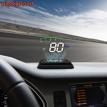 BigBigRoad Car Hud Display OverSpeed Warning Windshield Projector For Ford B-MAX Fusion Galaxy Ka S-MAX S MAX Super Duty Vertrek
