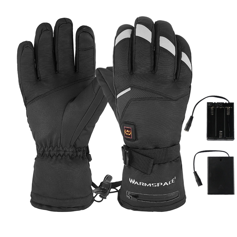 Outdoor Winter Electric Thermal Gloves Waterproof USB Heated Gloves Battery Powered Touch Screen Ski Cycling Snow Mitten Glove
