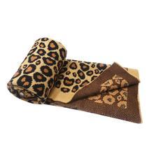 5 шт. вязаное одеяло для детей с леопардовым узором, мягкое детское вязаное одеяло DOM1483