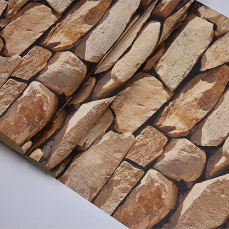 Vintage 4D pierre papier peint décoration de la maison salon chambre salle à manger fond mur vinyle 3D étanche PVC papier peint - 6