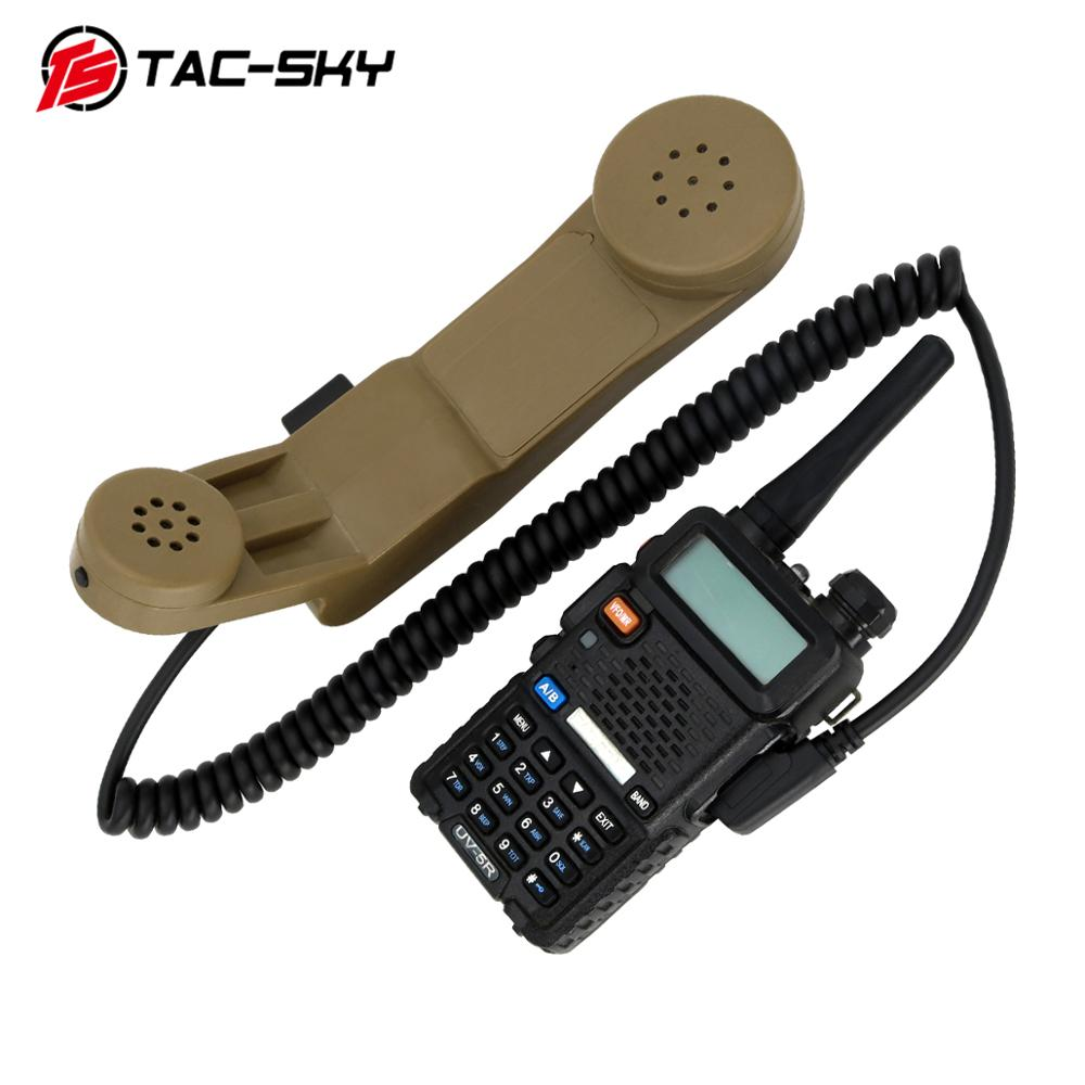 TAC-SKY H250 PTT Military Tactical Intercom PTT 2-pin Kenwood Plug Handheld Speaker Microphone H250 Ptt DE