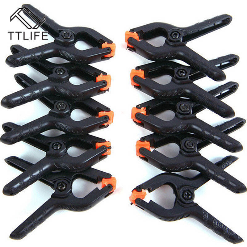 TTLIFE A-shape Plastic Woodworking Spring Clamp Wood Clips Hardware Woodworking Tools Nylon Fixed Spring Clip Hand Tool Parts