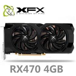 Б/у XFX rx 470 4 Гб видеокарта 256bit gddr5 4 ГБ настольный ПК оригинальная графическая карта amd без майнинга radeon rx 470 xfx rx 470 4g