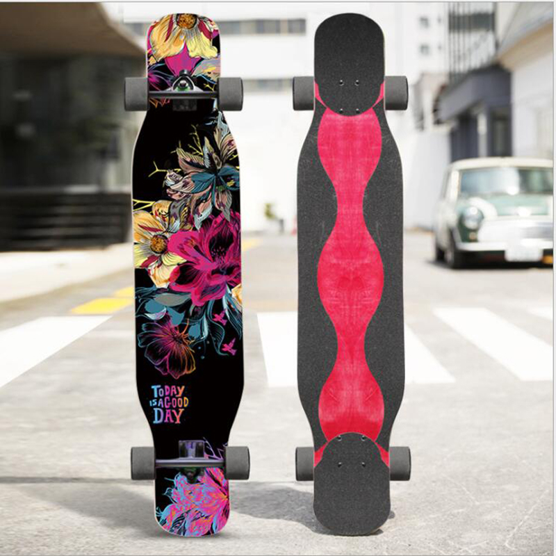 Adult Long Board Four-wheeled Longboard Trucks Dancing Skateboards Custom Skateboard Skate Longboard