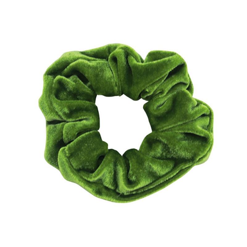 1 шт., женское эластичное кольцо для волос, зимние мягкие бархатные резинки, резинки для волос, милые одноцветные аксессуары для волос, держатель для конского хвоста - Цвет: 23
