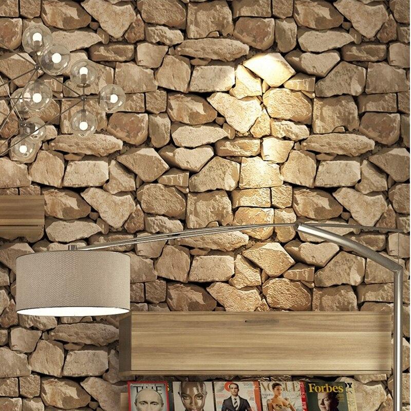 Vintage 4D pierre papier peint décoration de la maison salon chambre salle à manger fond mur vinyle 3D étanche PVC papier peint - 5