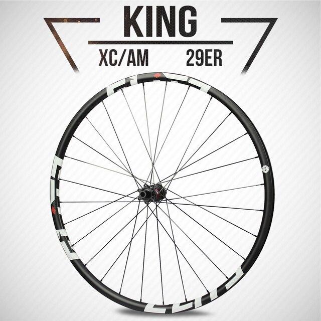 ELITE ensemble de roues de vtt en carbone Super légères de 1123g, DT Swiss 240 36T, avec moyeu XC AM Tubeless Ready King