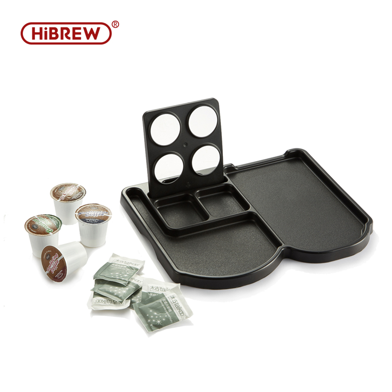 Plastic Tray Set  For Coffee Machine Compartment For Dolce Gusto Kcup Hotel In Room Coffee Machine Capsule Holder