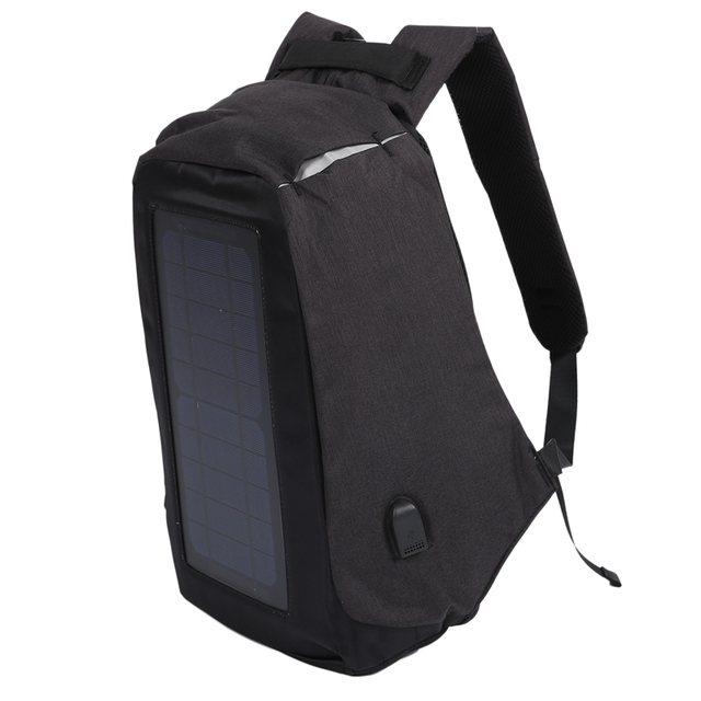Solar Backpack Anti-Theft Business Bag Travel Backpack Casual Rucksack with Solar Panel Charge for Smart Phone Men Women 2