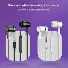 Fone de ouvido universal para o telefone inteligente samsung huawei xiaomi com microfone embutido 3.5mm jack com fio fones de ouvido