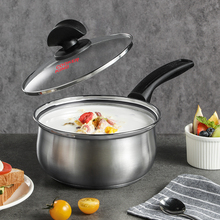 Sauce-Pan Cookware-Suit 16cm Induction with Lid Heat-Proof-Handles for All-Stove Milk-Pot