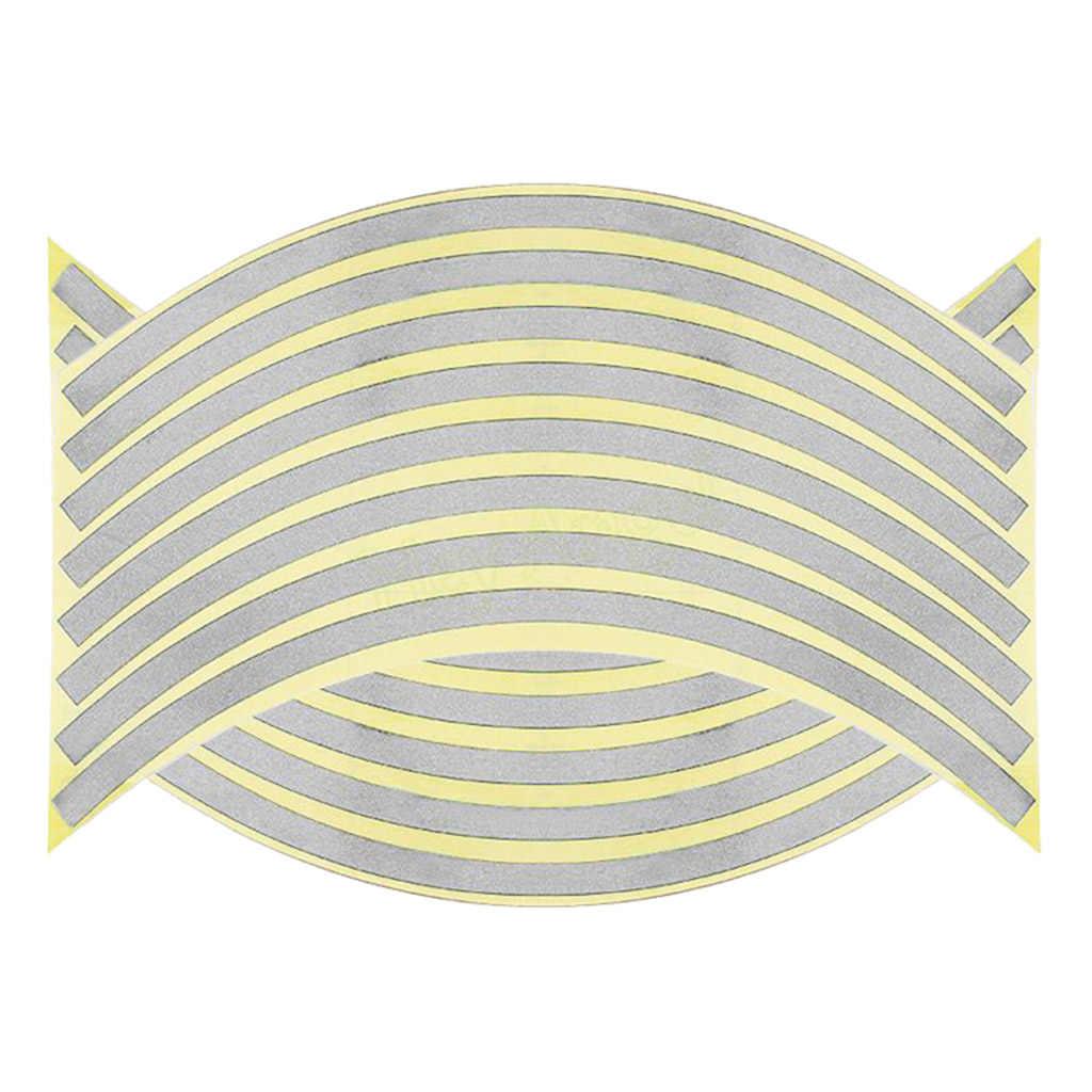 16 قطعة شريط ريم عاكس ، عجلة شريط لاصق لامع لصائق عجلات دراجة بخارية ، (14/18 بوصة) ، متعدد الألوان