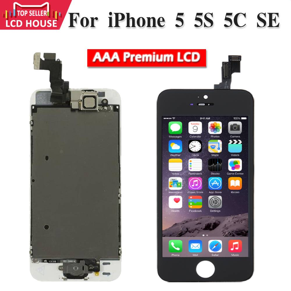 Grade AAA Premium LCD Replacement Full Set LCD <font><b>Ecran</b></font> For <font><b>iPhone</b></font> <font><b>5</b></font> 5S 5C SE Complete Display Replacement Touch Digitizer Screen image