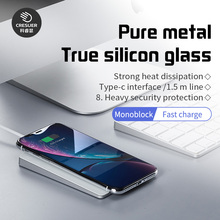 CRESUER Wireless Charger Glass Aluminum alloy For iPhone11 X