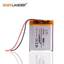 503445 3,7 в литий-ионная перезаряжаемая батарея, полимерная литиевая батарея 3,7 В 900 мАч для mp3 mp4 mp5 телефонного рекордера 053445