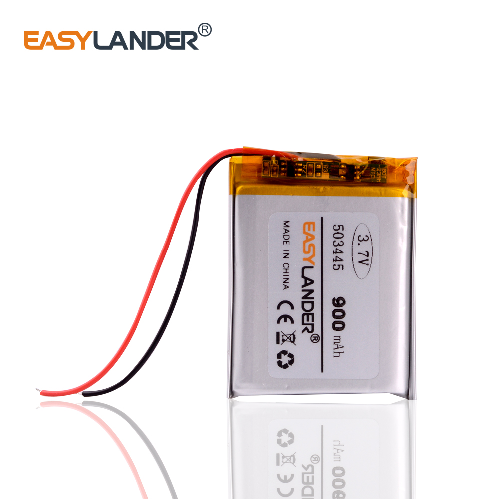 503445 3.7v Lithium Ion Rechargeable Battery Polymer Lithium Battery 3,7 V 900MAH For Mp3 Mp4 Mp5 Phone Recorder 053445