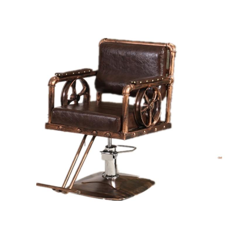 Hairdresser Chair Salon Special Chair Retro Hair Cutting Chair Lift Hair Cutting Chair