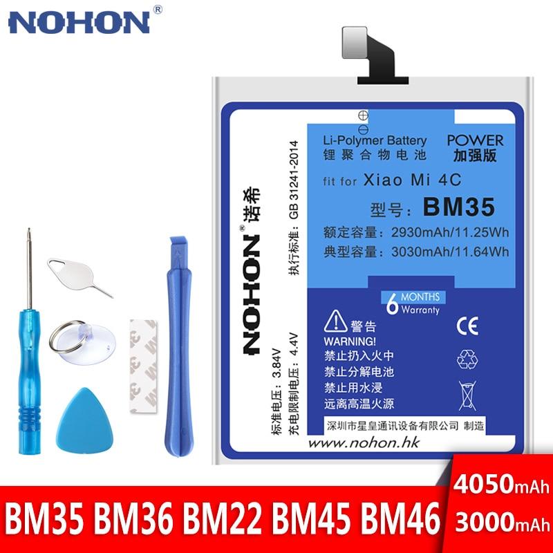 NOHON Phone-Bateria BM36 BM45 BM46 BM22 Replacement Free-Tools Xiaomi Redmi Note-2