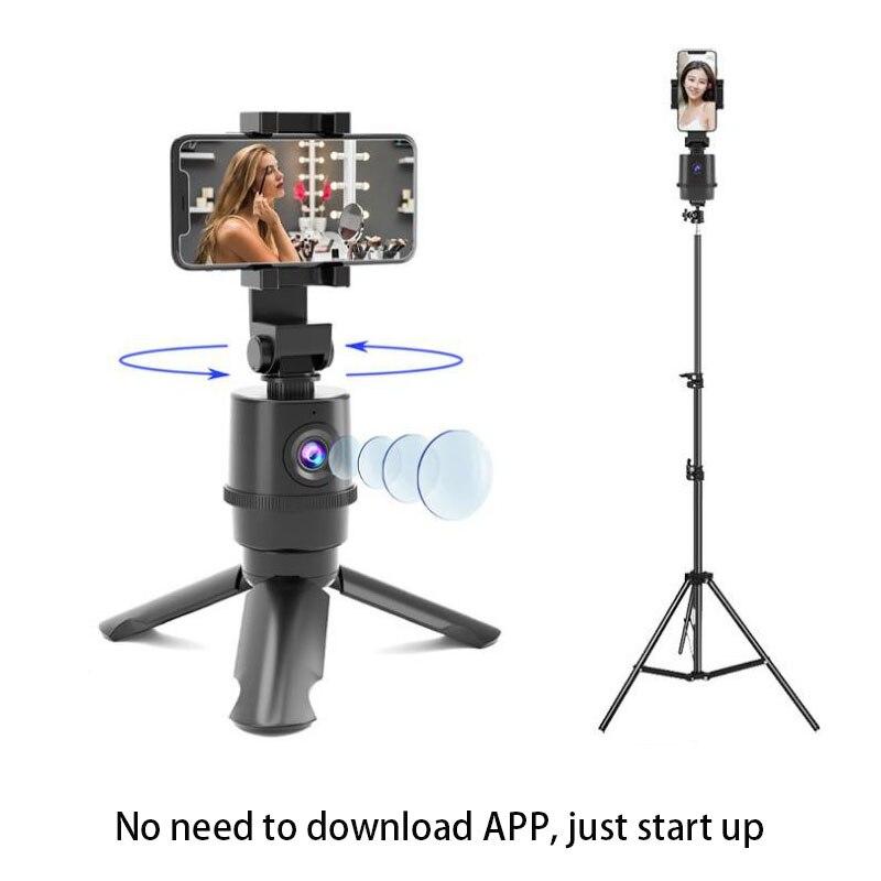 360 rotação rosto rastreamento selfie vara tripé objeto rastreamento titular câmera cardan para foto vlog gravação de vídeo ao vivo sem necessidade app