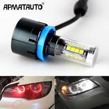 2x160w LED 천사 눈 빛 BMW E60 E61 E63 X5 E70 X6 E71 E90 E91 E92 E93 M3 E89 E82 E87 H8 LED 헤드 라이트 화이트 블루
