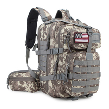 Insulation compartment military molle tactical backpack waterproof nylon camping knapsack waist mobile phone bag 3D