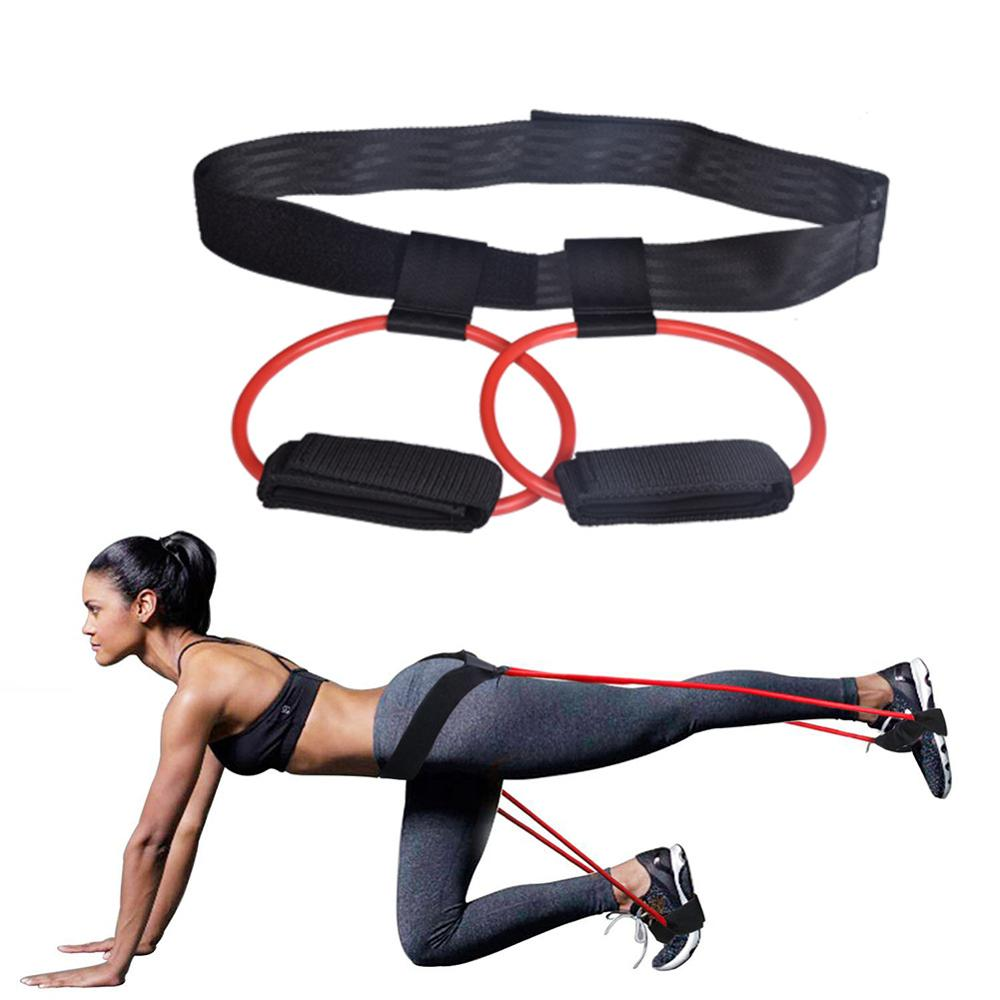 Fitness Booty Bands Set Resistance Bands For Butt Legs Muscle Training Adjust Waist Belt Elastic Bands Pedal Exerciser Workout