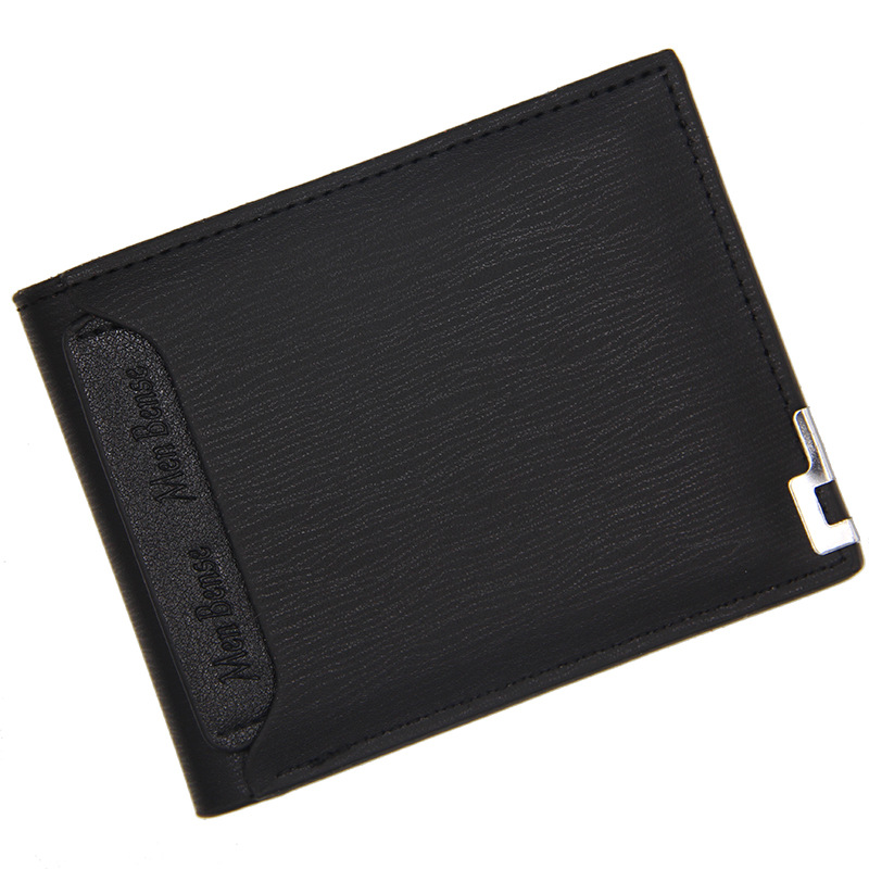 Men Wallet Leather Card Holder Fashion New Card Purse Fashion Multifunction for Credit Cards Male Iron Edge Billetera Hombre 1