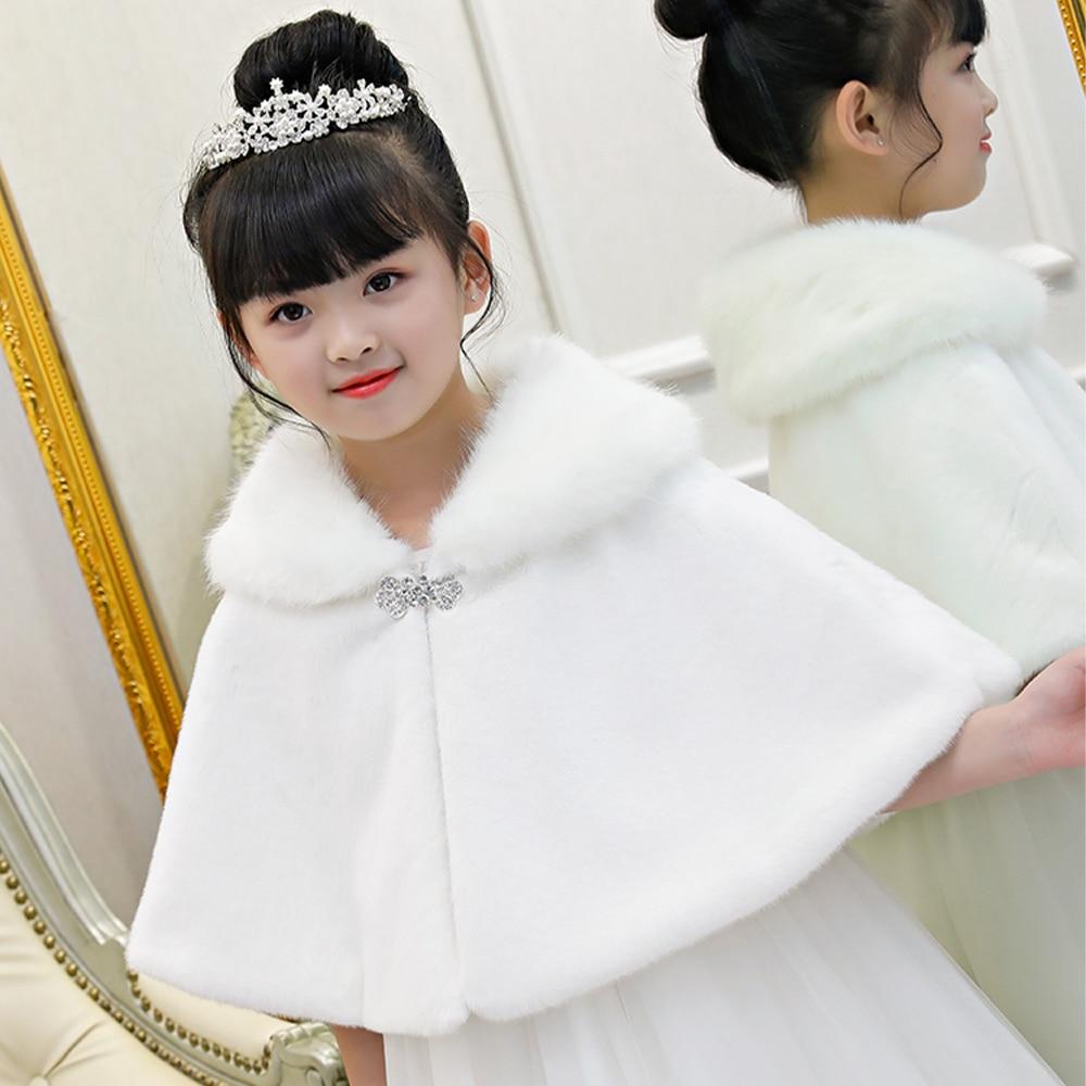 [KDMP04] 5pcs Kid Winter Warm Faux Fur Short Cloak Girl Thicken Shrug Child Shawl Cape Wholesale
