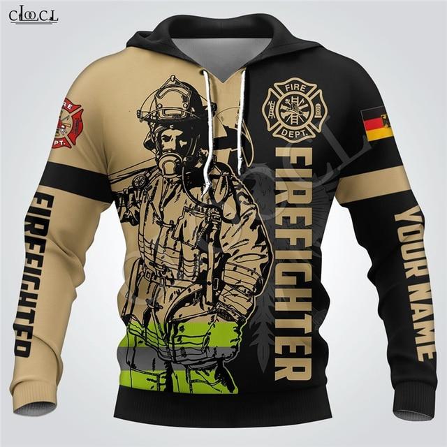 Firefighter Print Hoodie 3D Hooded Sweatshirt 1