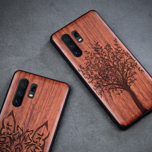 Image 5 - 3D Carved Wood Case For vivo X30 Pro Tree wooden Pattern Embossment carve Cover