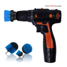 Power Scrubber Brush Set For Bathroom Drill Cleaning Cordless Attachment Kit Scrub Blue