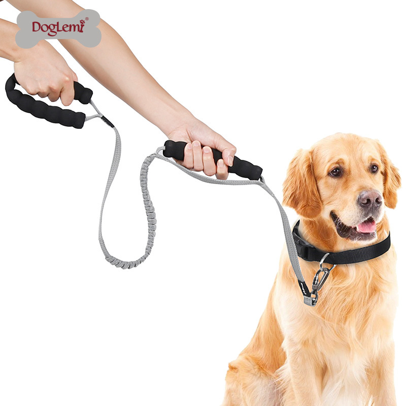 Big Dog Telescopic Traction Sling Dog Training Safe Rope Dog Chain Proof Punch Buffer Ultra-stretch Pet Traction Rope