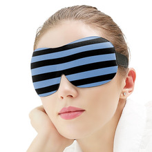 3d Sponge Shading Eyepatch Classic Stripe Sleep Eye Mask Breathable Portable Blindfold Travel Black Eyeshade Cover ice eyeshade sleep mask shading breathable goggles men and women cute expression ice pack eye protective antifaz para dormir