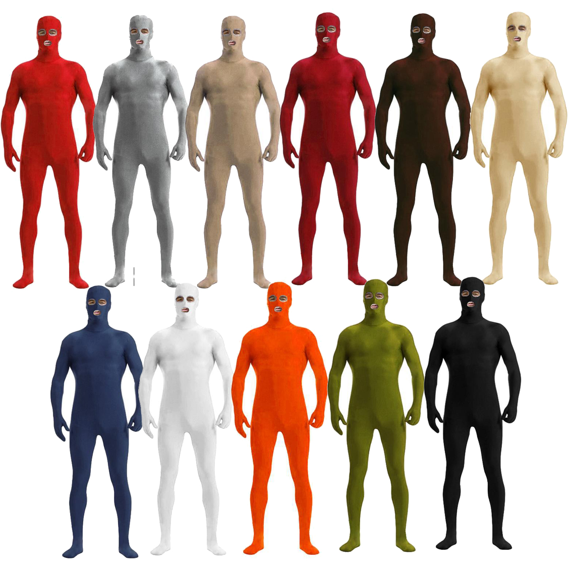 Brand New <font><b>Men</b></font> Costume Sexy Full Body <font><b>Latex</b></font> Costume Leather Jumpsuit Sexy <font><b>Catsuit</b></font> Stretch Zentai Wholesale Open eyes mouth image