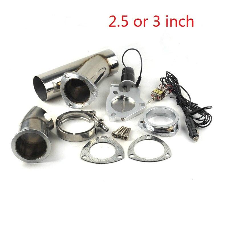 2 5 3 polegada valvula de escape silenciador eletrico recorte sistema descarga escape recorte valvula bypass