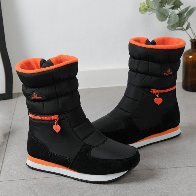 Women Snow Boots 2019 Platform Thick Plush Winter Shoes Zipper Waterproof Non-slip Women Winter Boots Botas De Mujer