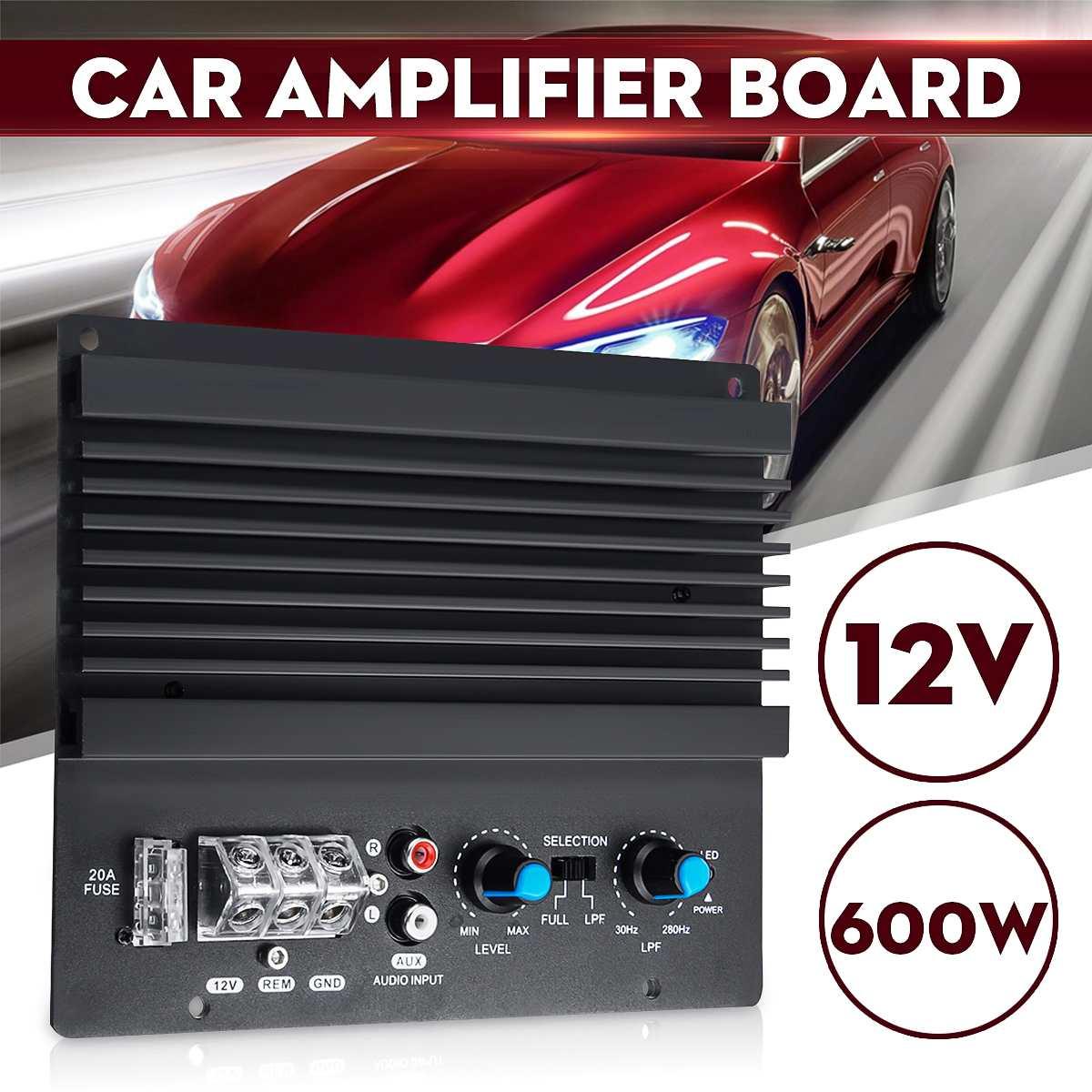 12v 600w Mono Car Audio Power Amplifier Powerful Bass Subwoofers Amp Car Amplifier Board Car Speaker Aux Subwoofer Amplifiers