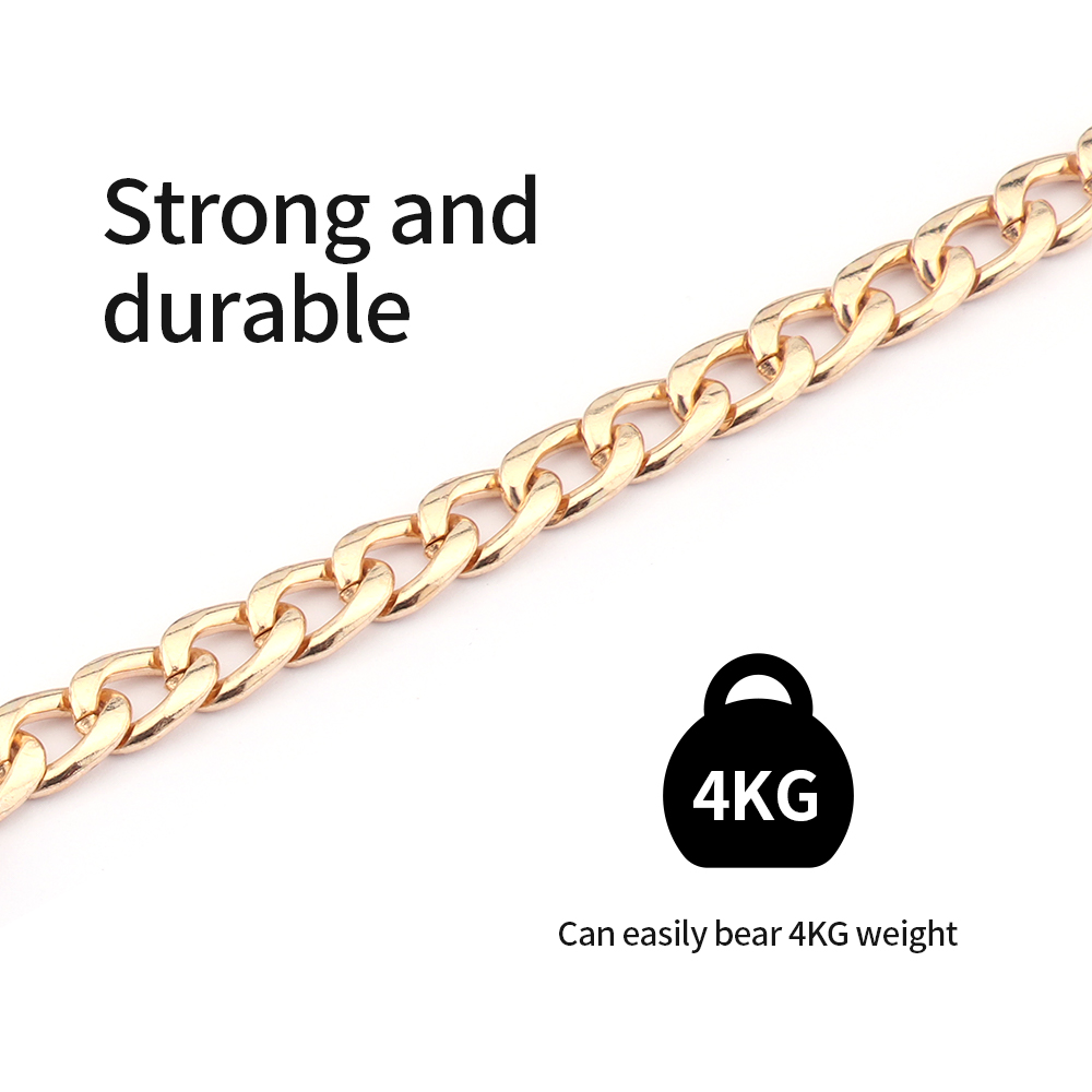 Ferroalloy Metal chain Replacement Detachable women's Purse Chain Shoulder Crossbody Bags Straps for Handbag Handle Accessories