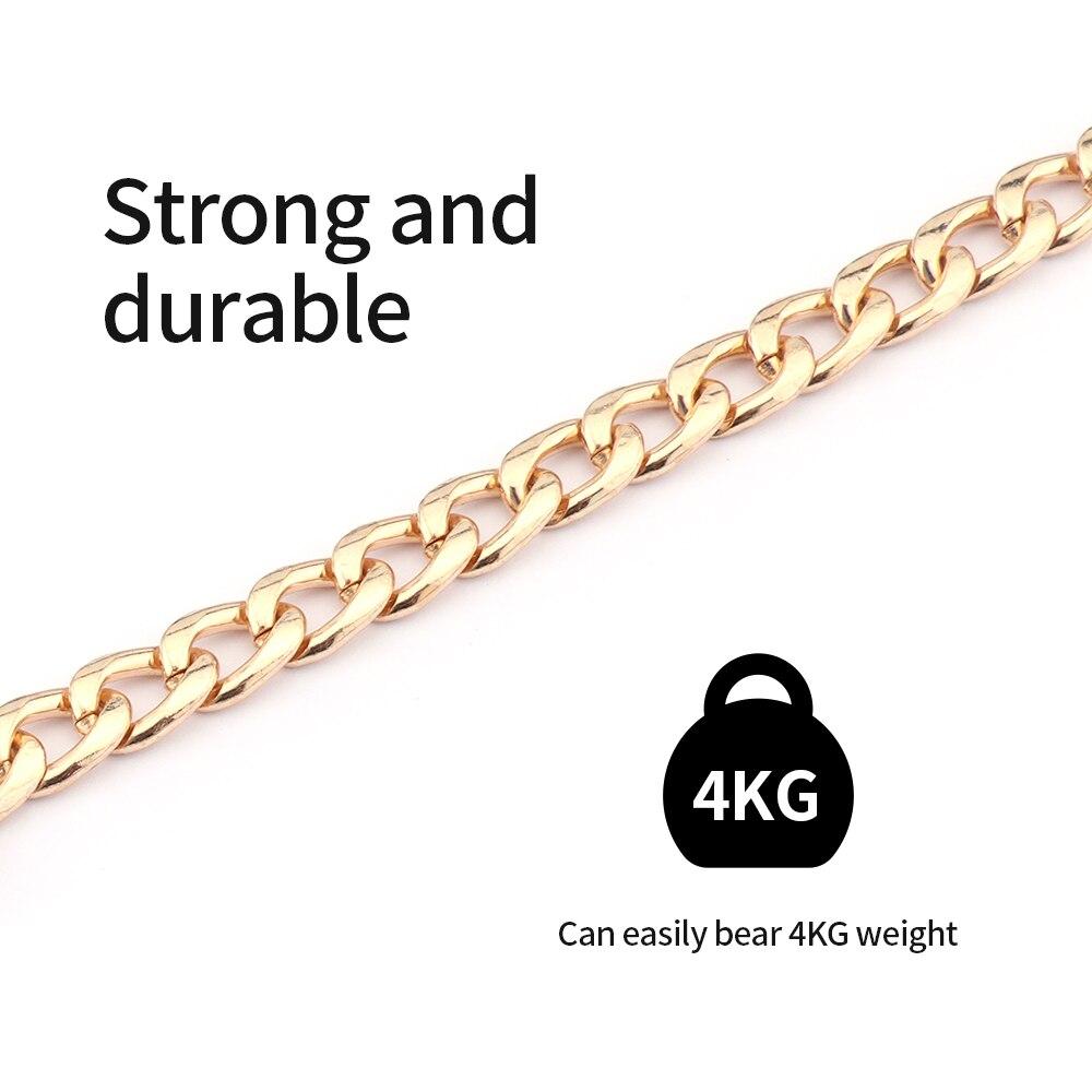length 100cm/120cm Metal Purse Chain Strap Handle Handle Replacement Shoulder Bag chain handbag Hardware decoration accessories