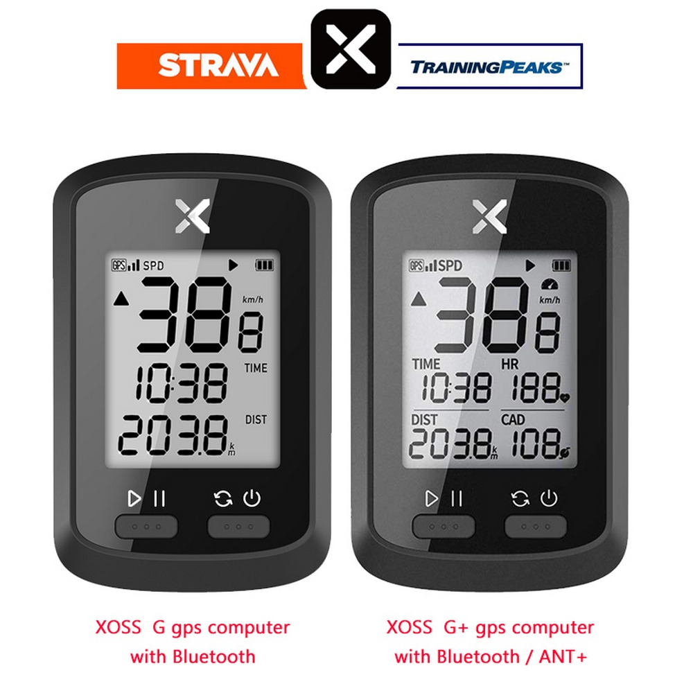 XOSS G+ Plus <font><b>Bike</b></font> <font><b>Computer</b></font> Wireless <font><b>GPS</b></font> Speedometer Waterproof Cycling Road <font><b>Bike</b></font> Bicycle Bluetooth ANT+ Odometer Without Sensor image
