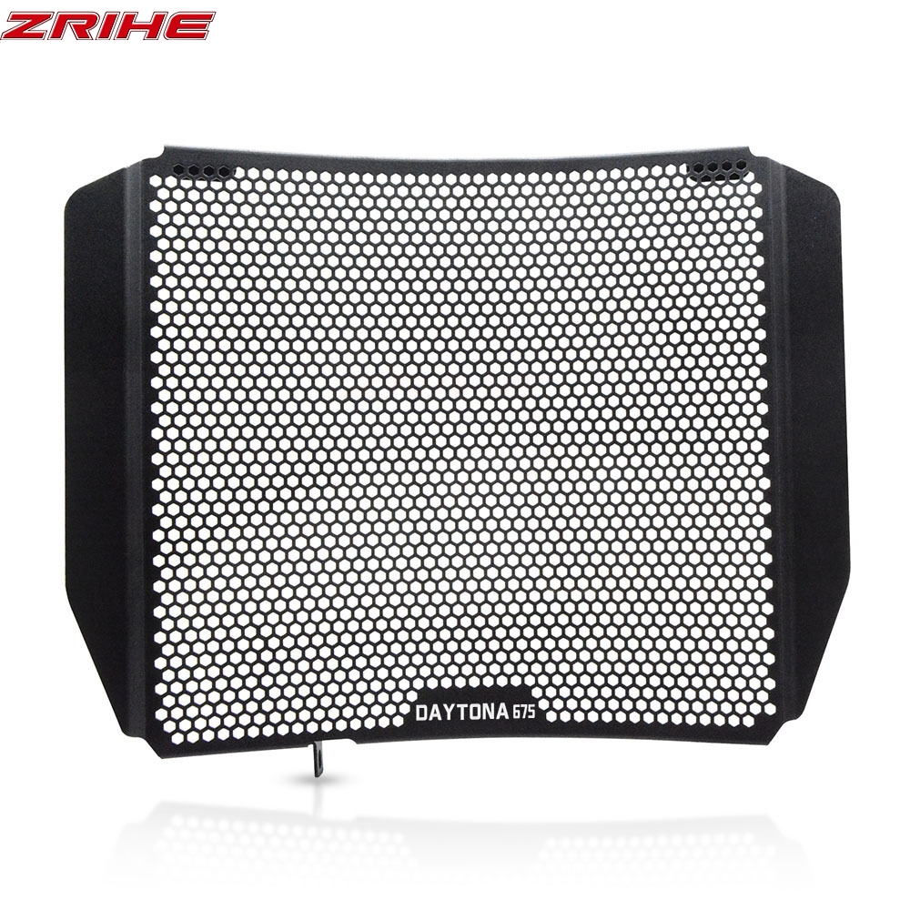 Motorcycle Accessories CNC Radiator Grille Guard Cover And Oil Cooler Guard Set For <font><b>Triumph</b></font> <font><b>Daytona</b></font> <font><b>675</b></font> 2006-2012 2007 <font><b>2008</b></font> 2009 image