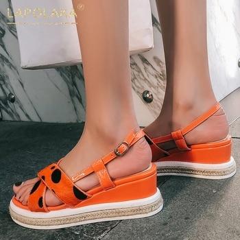 Lapolaka Fashion Hot Sale High Quality Buckle Strap Summer Sandals Woman Shoes Platform Wedge Heels Shoes Women Sandals
