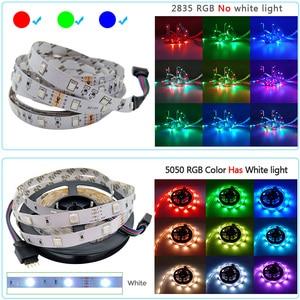 Image 4 - 5m 10m 15m 20m LED Streifen 5050 2835 RGB Streifen LED Licht Flexible Band Streifen DC 12V Weihnachten lichter IR Controller mit Adapter