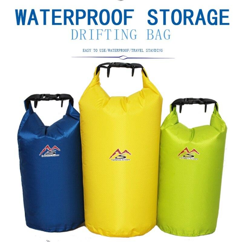 5/10/20/30 L Outdoor Waterproof Bag Nylon Waterproof Dry Bag Lemon Yellow For Camping Drifting Hiking Swimming Rafting Kayaking
